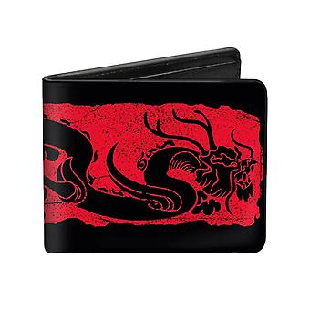 Disney Mulan Dragon Block Print Bi-Fold Wallet