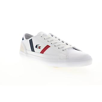 Lacoste Sideline Tri 1 CMA  Mens White Low Top Sneakers Shoes