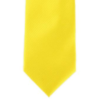 Michelsons of London Plain Rib Polyester Tie - Yellow