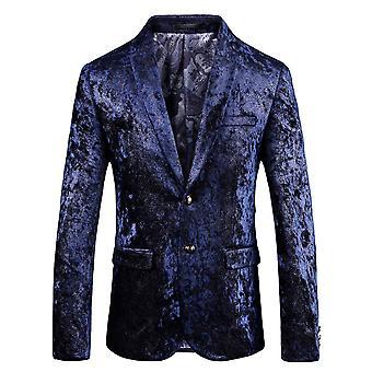 Cloudstyle Men's Blazer Cotton Luxurious Banquet Party Suit Jacket