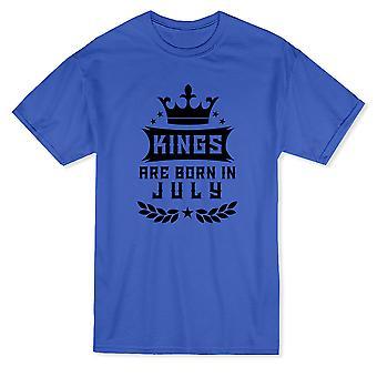 Royal Crown Graphic & Kings ovat syntyneet heinäkuussa & Syntymäpäivä Quote Men's T-paita