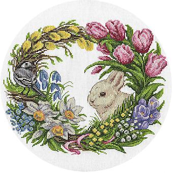 Panna Cross Stitch Kit : Spring Wreath