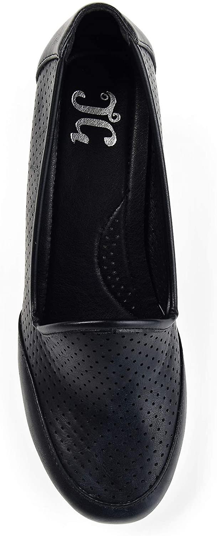 Brinley co. Womens Saffi comfort-enige Laser-cut lichtgewicht wiggen zwart, 7,5...  ouR0ZJ