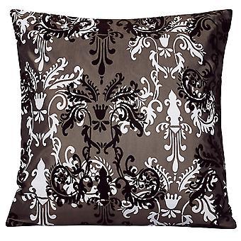 Firkantede pudebetræk Elegant flokmønster pudebetræk Polyester firkantet pudebetræk til sofa og seng