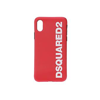 DSQUARED2 WHITE RED LOGO IPHONE X COVER
