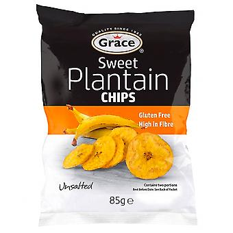 Grace Sweet Plantain Chips - 9 Pack x 85gr