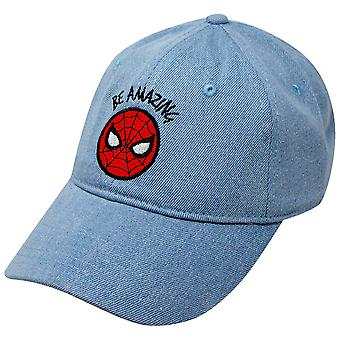 Spider-Man Be Amazing Denim Papa Chapeau