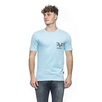 فيرساتشي الأزرق الفاتح تي شيرت 19v69 الرجال