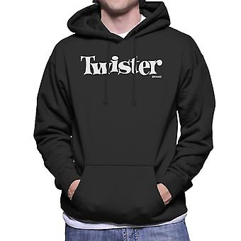 Twister White Text Logo Men's Hooded Sweatshirt