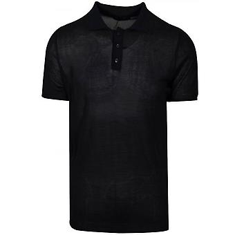 Antony Morato Ink Blue Knitted Polo Shirt