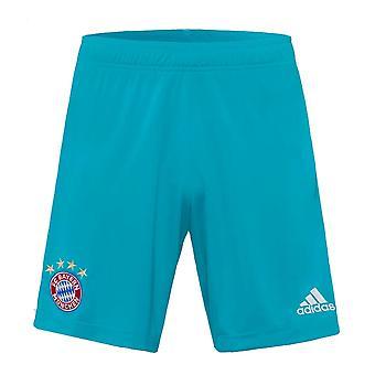 2020-2021 Bayern Munich Adidas Home Goalkeeper Shorts (Green)
