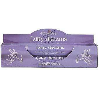 Bâtonnets d'encens de rêves pour le fée éléments (6 paquets)