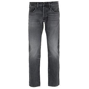 Edwin ED-55 Regular Tapered Kaguya Selvage Black Denim Jeans