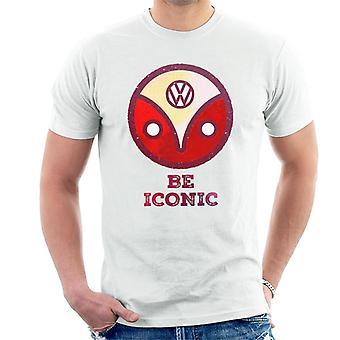 Volkswagen Be Iconic Type 2 Camper Logo Men's T-Shirt