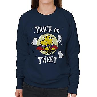 Peanuts Halloween Trick Or Tweet Woodstock Women's Sweatshirt