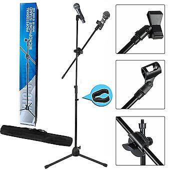Adjustable Professional Boom Microphone Mic Stand Holder With Free Carry Bag