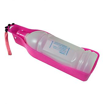 Pullokulho vaaleanpunainen vesi 600 ml eläimet koirat kissat matka