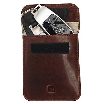 Bolsa de couro Primehide Premium - Bloqueio RFID - Protetor de chave 4829