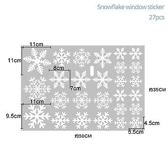 White Snowflake Sticker Glass Window Decoration For Kids Room - Christmas Wall Stickers