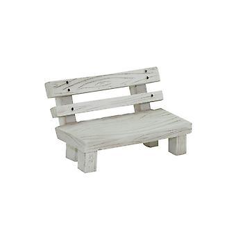 Mini Resin Garden Bench Decoration White