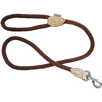 Dog & Co Supersoft Rope Trigger Lead - Bruin - 14mm x 48 inch