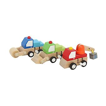 Wooden Wind Up Construction Toy - Gift Item