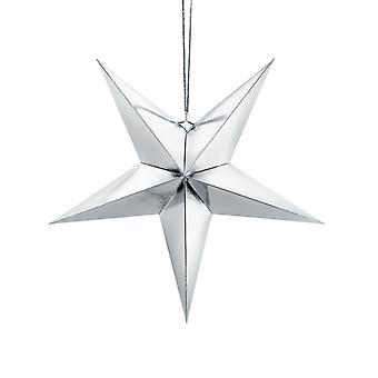 hopea metallinen folio roikkuu paperi tähti joulujuhla koristelu - 70cm