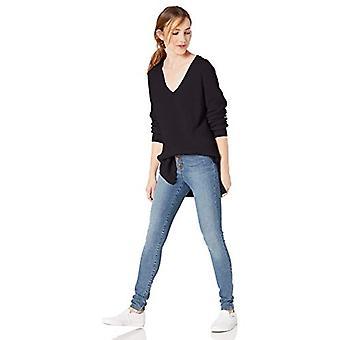 Marque - Goodthreads Women-apos;s Cotton Half-Cardigan Stitch Deep V-Neck Sw...