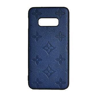 Puhelimen kotelo Iskunkestävä kansi Monogram GG Samsung S10E: lle (sininen)