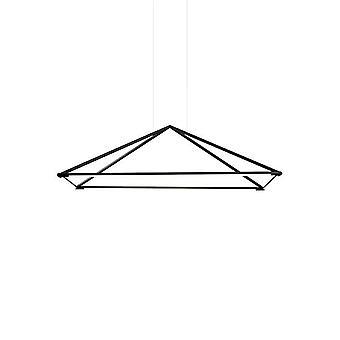 LED koriste katto riipus Matt Black 120cm 5200lm 3000K