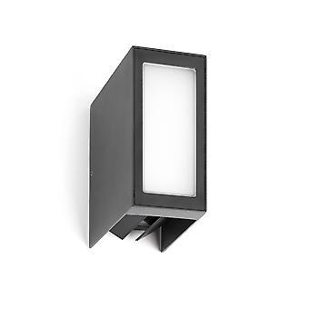 LED ulkouima seinä vaalea valkoinen, tummanharmaa IP54