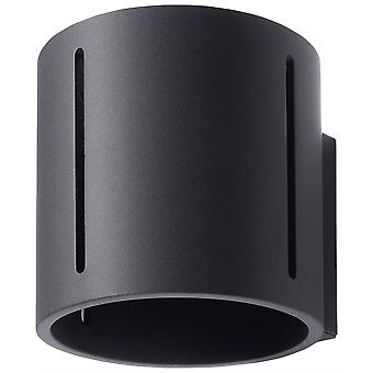 1 Light Flush Wall Light Black, G9