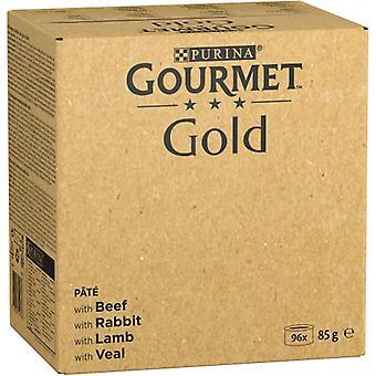 Gourmet Multipack Pâté: Beef, Rabbit, Lamb And Veal (Cats , Cat Food , Wet Food)