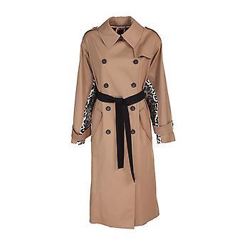N°21 N04100871488 Dames's Beige Polyester Trench Coat
