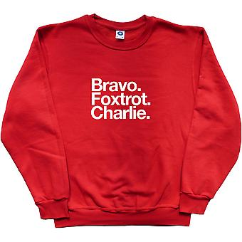 Bury Football Club: Bravo Foxtrot Charlie Rotes Sweatshirt