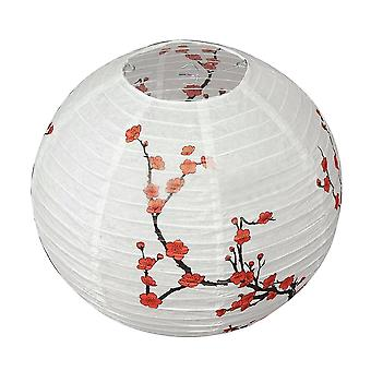 14'' Lamp Shade-plum Blossom Printed, Paper Lantern For Decoration
