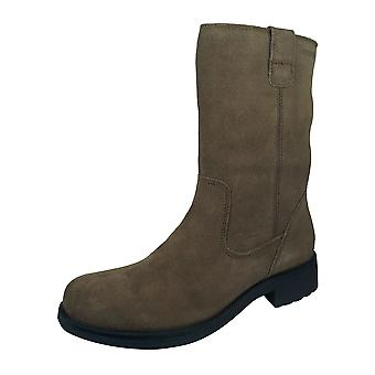 Geox D Rawelle B Womens Suede Mid Boots - Café