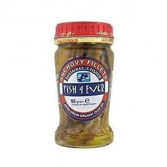 Fish 4 Ever - Anchovies in Org Olive Oil 95g