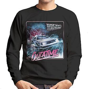 Back to the Future Delorean Lightning Outatime Men's Sweatshirt