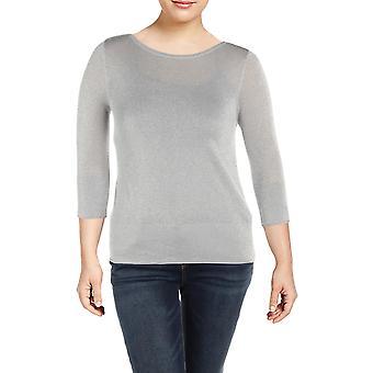 Basler | Metallic Sparkle Pullover Top