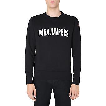 Parajumpers Pmflecf01p47541 Men's Black Cotton Sweatshirt