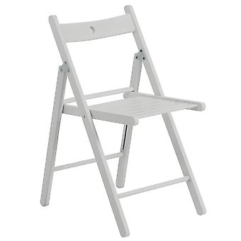 Folding Chairs Wooden Wood Studying Dining Office Student Uni Chair White x1