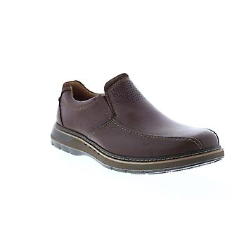 Clarks Un Ramble Step Mens Brown Wide Loafers & Slip Ons Casual Schoenen