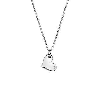 Diamantes calientes plata pensativo corazón colgante colgante DP702