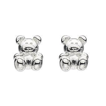 Dew Sterling Silver Dinky Bear Stud Earrings 3553HP027