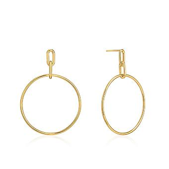 Ania Haie Chain Reaction Shiny Gold Cable Link Hoop Boucles d'oreilles E021-07G