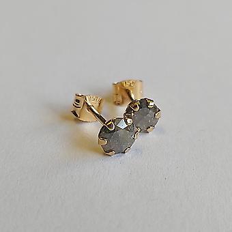 Vintage Örhängen Guld 18K med Briljantslipade Diamanter 0,8 ct.