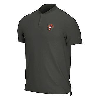 2020-2021 Portugal Camiseta Polo Auténtica (Sequoia)