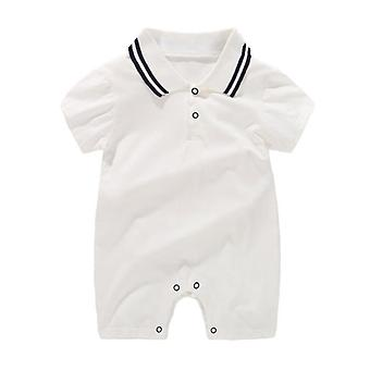 New Born Baby Clothing Summer Gentleman Rompers, 0-12m Cotton Jumpsuit Unisex