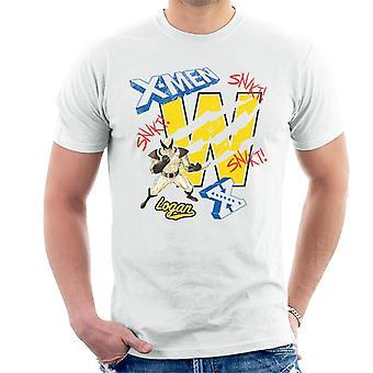 Marvel X-Men Wolverine Logan Menn's T-skjorte